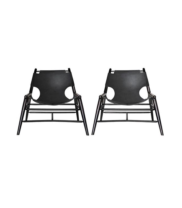 Anna Karlin Leather Sling Chairs