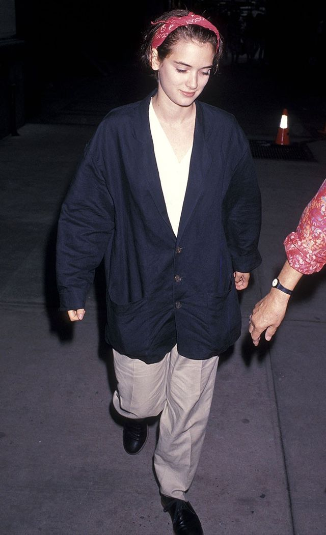 '90s Winona Rider wearing a bandana