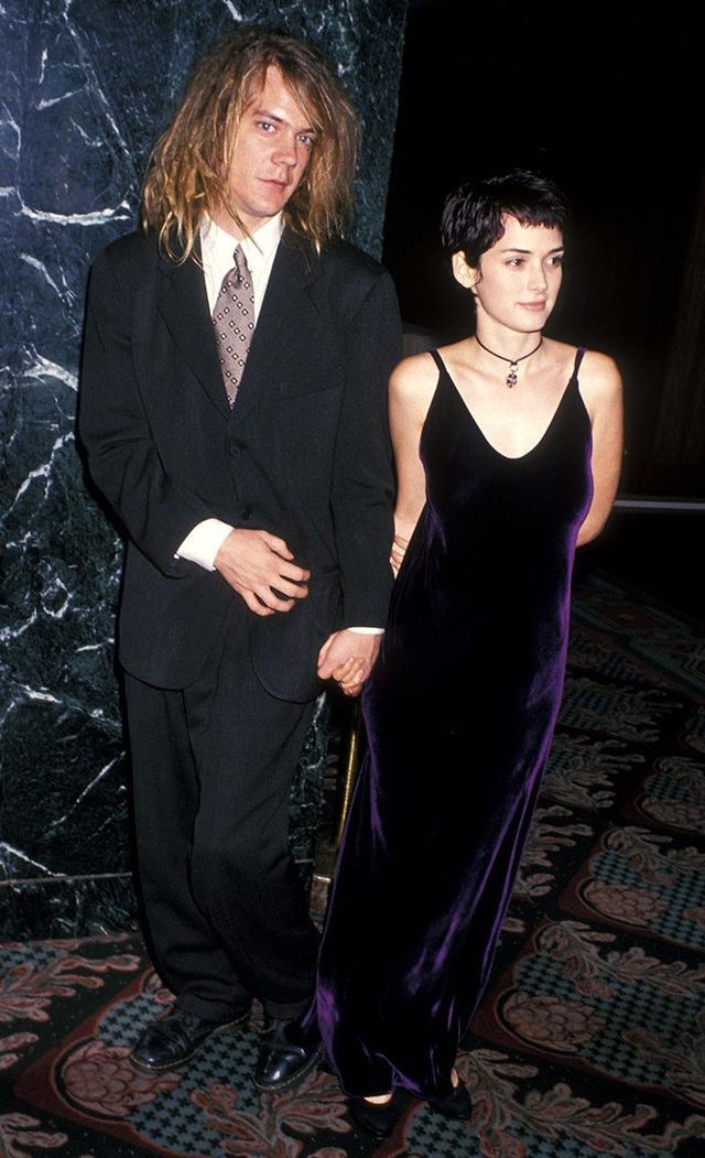 '90s Winona Ryder wearing velvet