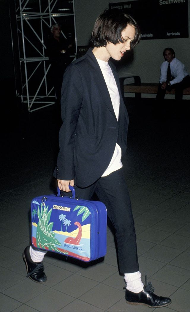 Winona Ryder airport style