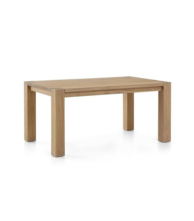 Crate & Barrel Big Sur Smoke Dining Table