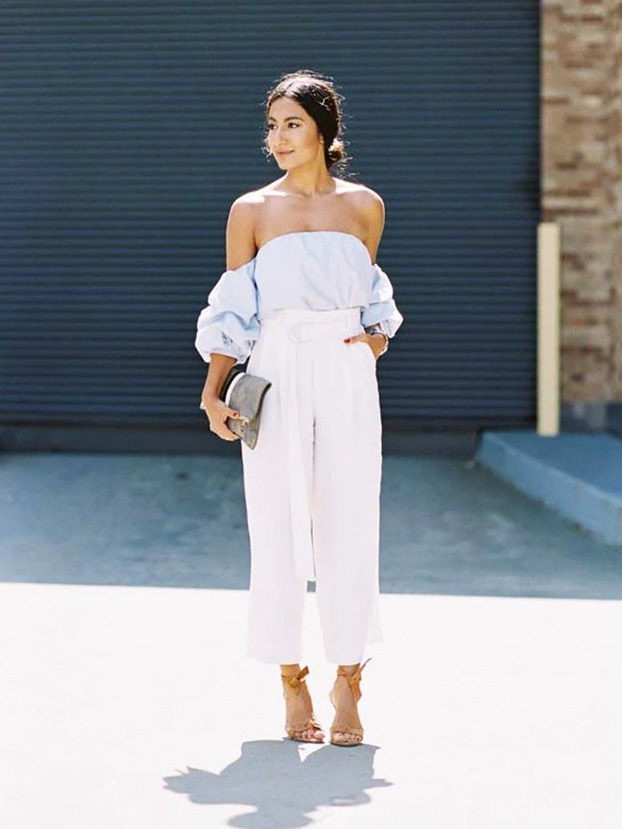 Here S Exactly What To Wear With Linen Pants Who What Wear