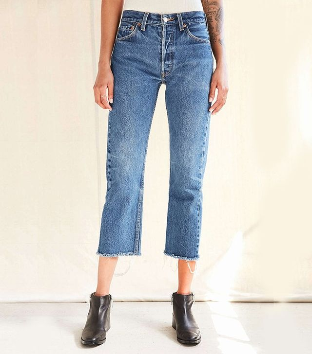 Urban Renewal Recycled Levi's Frayed Jean