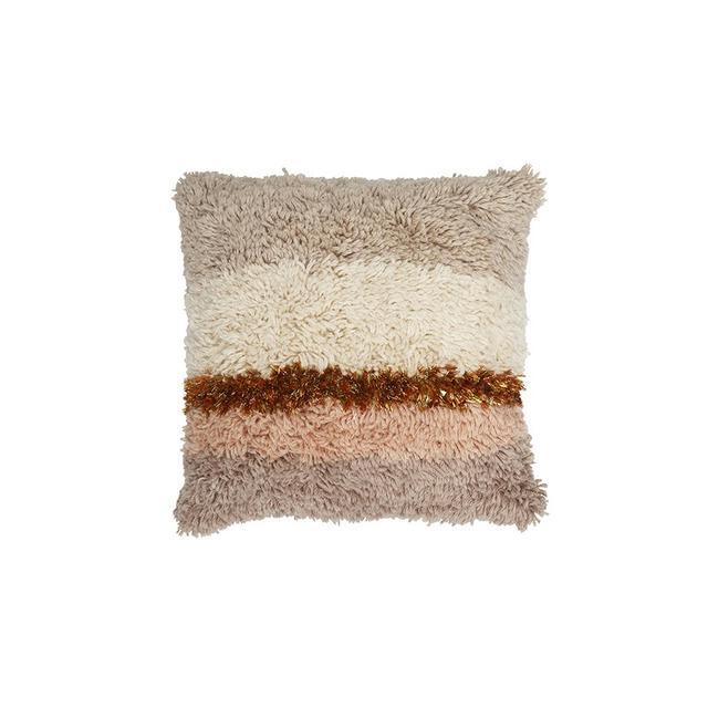 Langdon Ltd. Striped Shag Cushion