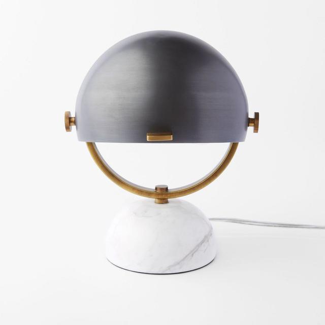 West Elm Clint Mini Task Lamp - Marble / Black