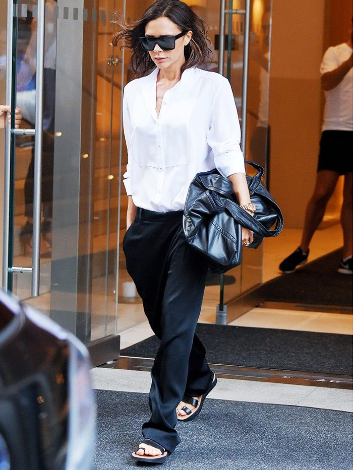 e8db8f98c Victoria Beckham Just Wore the Most Unexpected Flats | Who What Wear