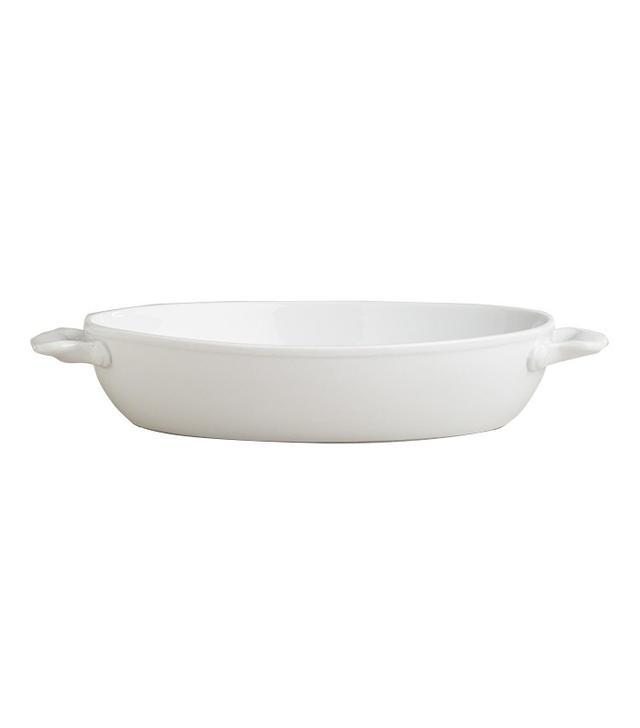 Large White Oval Baker