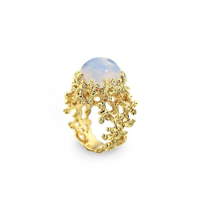 Arosha Taglia Rainbow Moonstone Ring