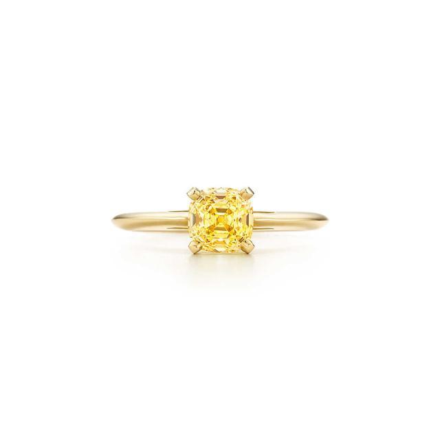Tiffany Classic Single Yellow Diamond Ring