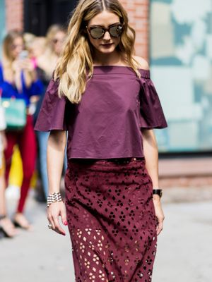 How to Copy Olivia Palermo's Perfect Berry Lipstick Look