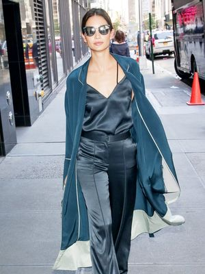 Lily Aldridge Masters Winter to Spring Dressing With One Piece