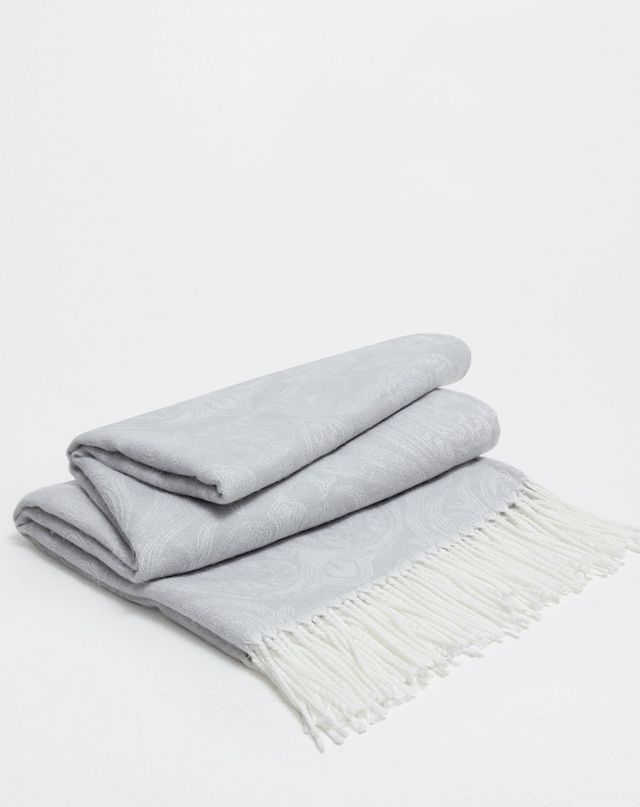 Zara Home Green Paisley Blanket