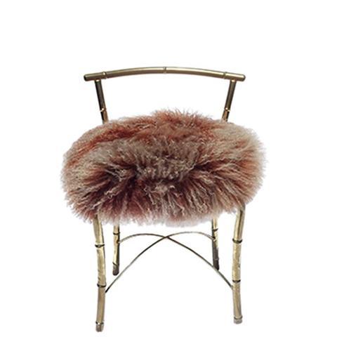 Vintage Shearling Vanity Chair