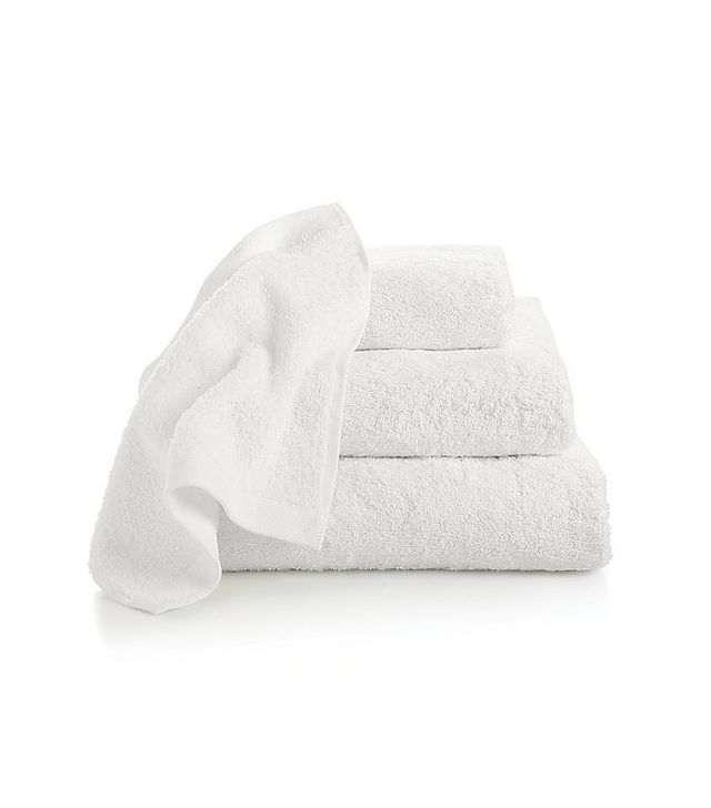 Crate and Barrel Egyptian Cotton White Bath Towels
