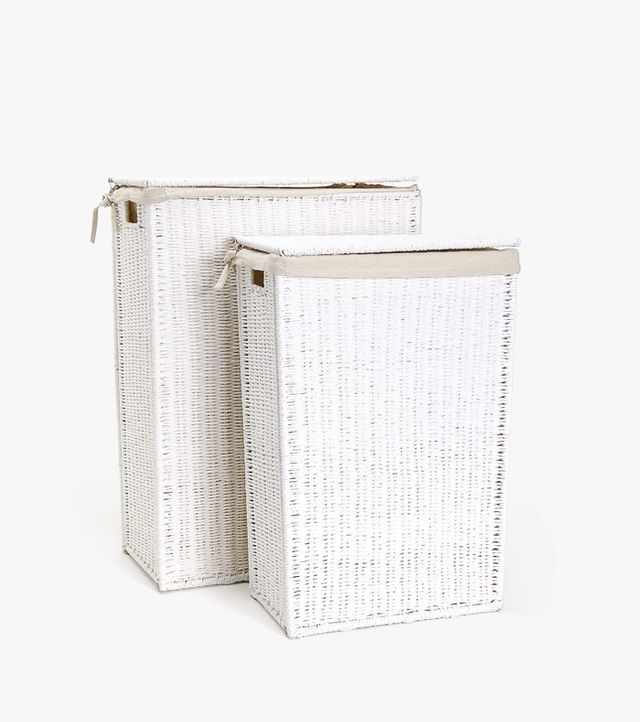 Zara Home Fabric-Lined Laundry Basket