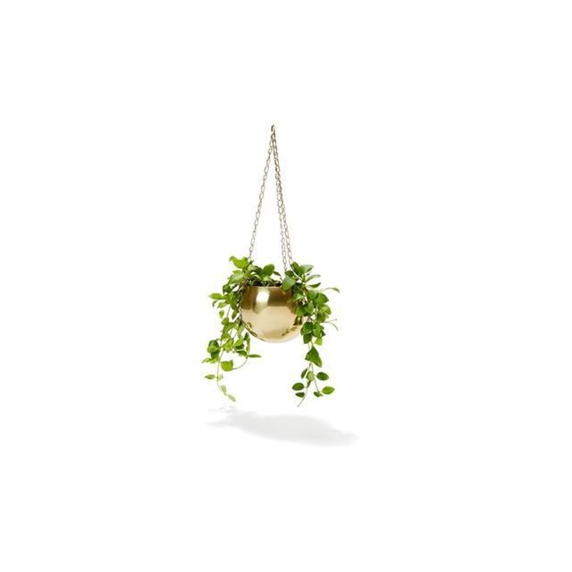 Kmart Brass Plated Hanging Planter