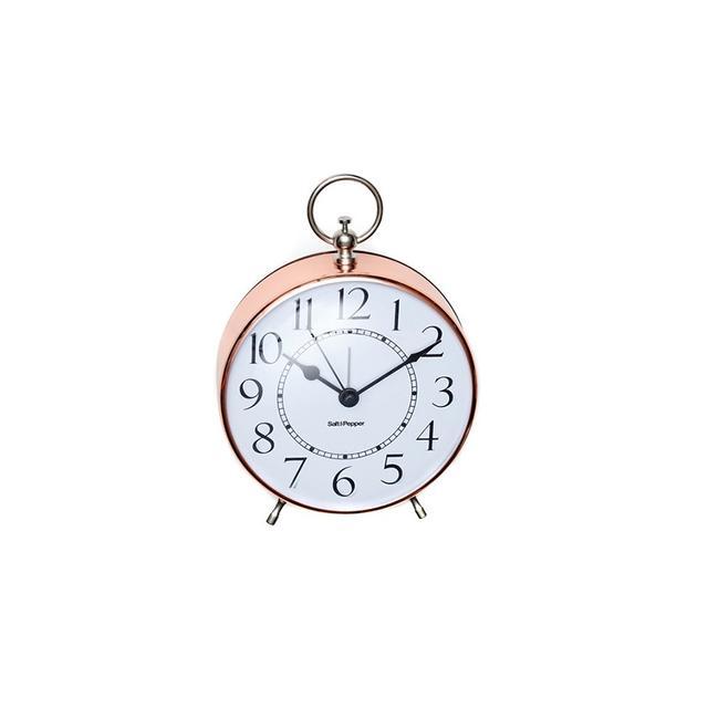 Temple & Webster Rose Gold Zone Metal Alarm Clock