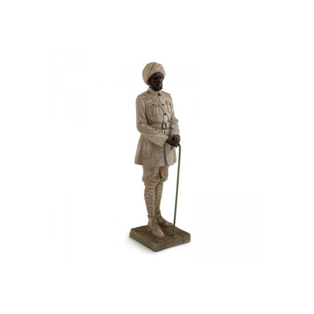 Alfresco Emporium Resin Statue of Colonial With Staff