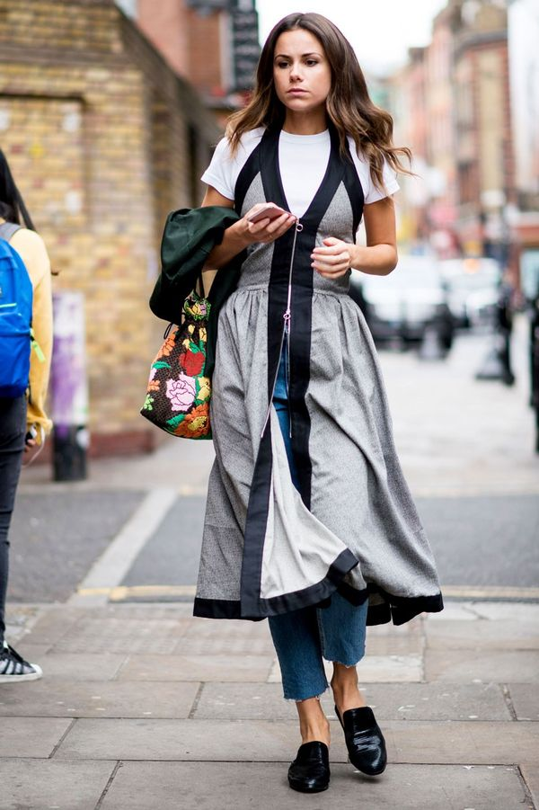 <p>Have you ever thought to wear your dress over jeans and a tee? </p>