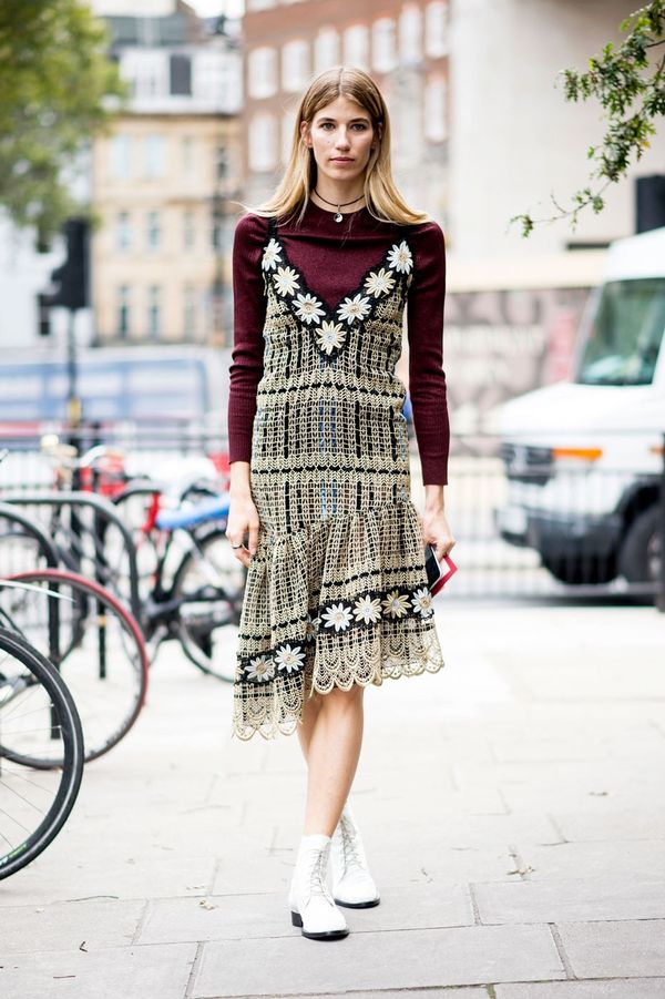 <p>We'll be dressing down our fancy dresses by layering over a long-sleeve tee.</p>