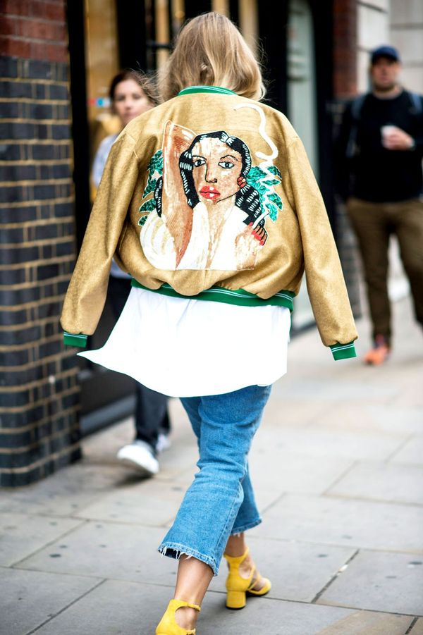 <p>Make a memorable exit in a statement bomber jacket.</p>