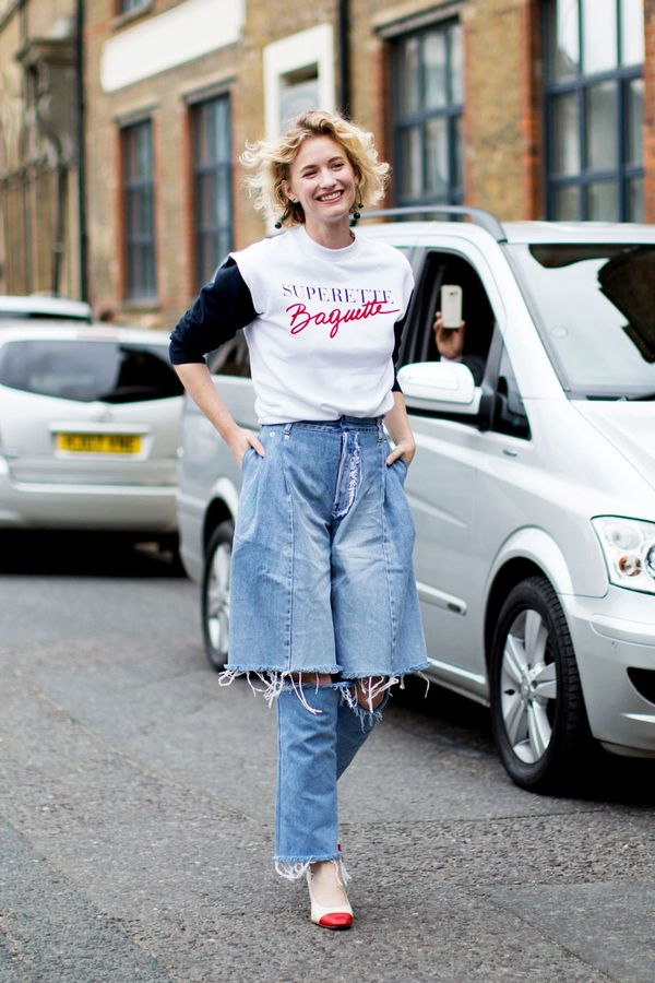 <p>This controversial layered denim trend shows no sign of slowing down.</p>