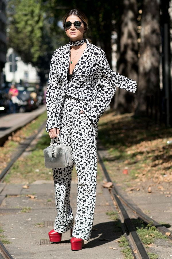 <p>When was the last time you wore platform heels? The time to whip them out again is <em>now</em>. Add a matching suit, and you're so 2016.</p>