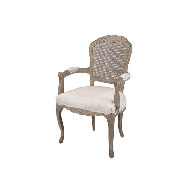 Temple & Webster Antique French Caned Chair