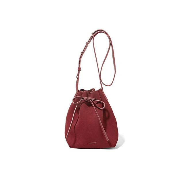 Mansur Gavriel Mini Suede Bucket Bag