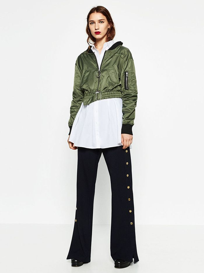 f807057dc468 This Is How Zara Girls Wear Their Bomber Jackets