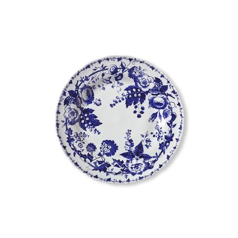 French Blue Bouquet Salad Plates - Floral
