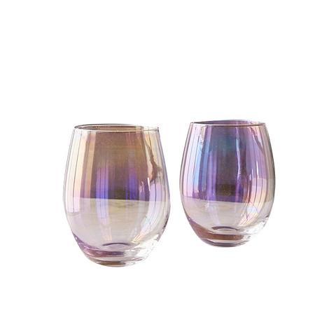 Luster Stemless Glasses Set