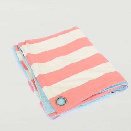 Striped Utility Blanket in Peach
