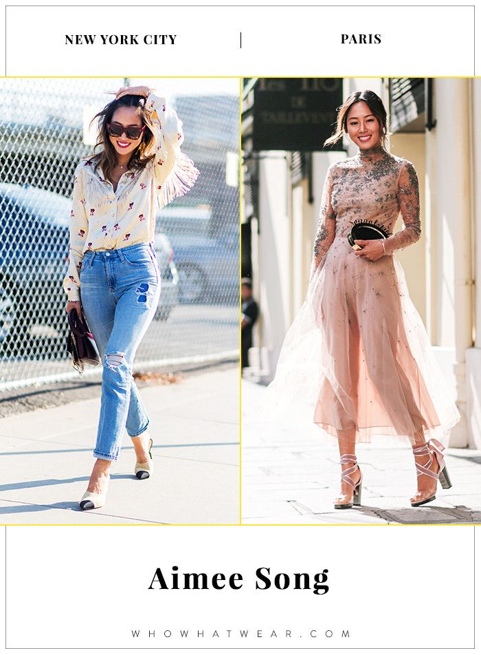 New York vs. Paris: How Style Stars Dress in Different Cities