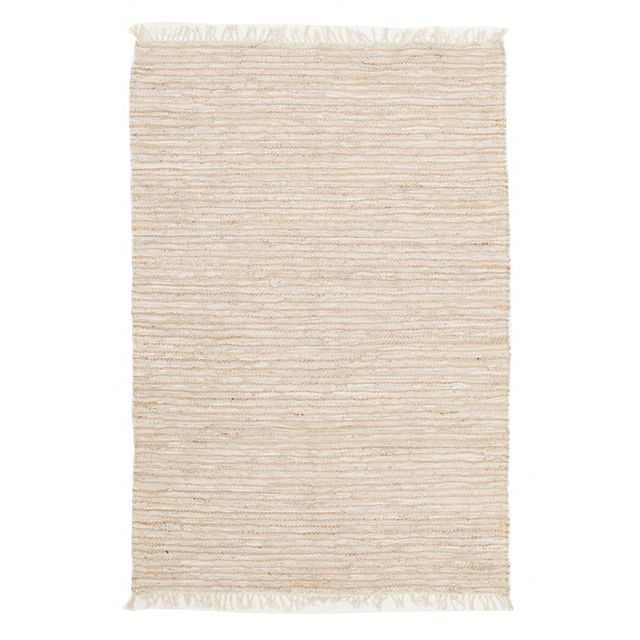 Interiors Online Bondi Leather and Jute Rug