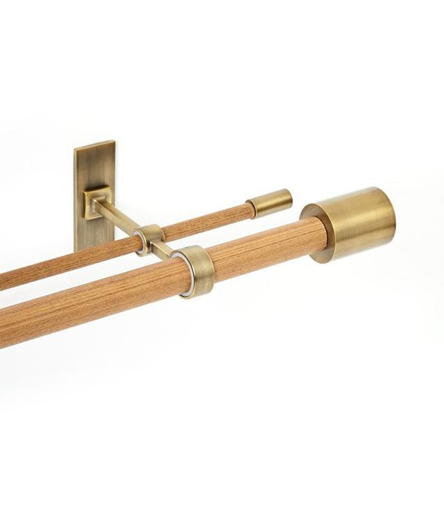 West Elm Mid-Century Wooden Double Rod