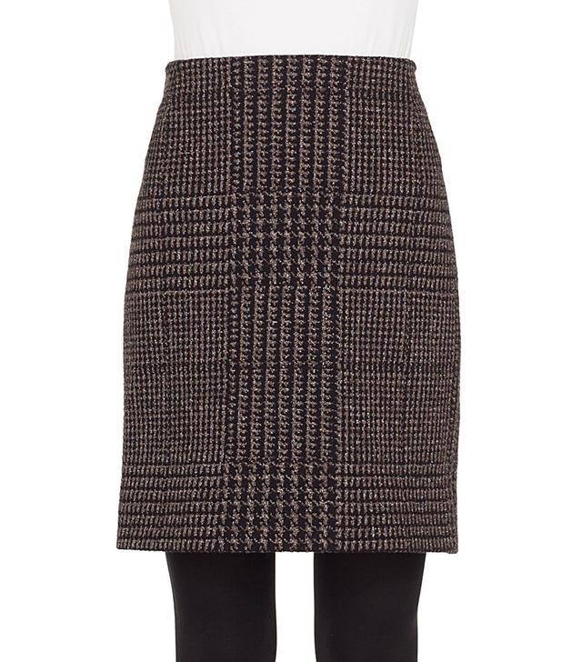 Women's Akris Punto Metallic Houndstooth Jacquard Miniskirt