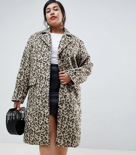 Lost Ink Coat in Leopard Print
