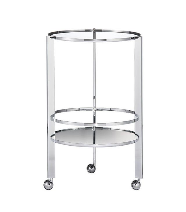 CB2 Ernest Chrome Bar Cart