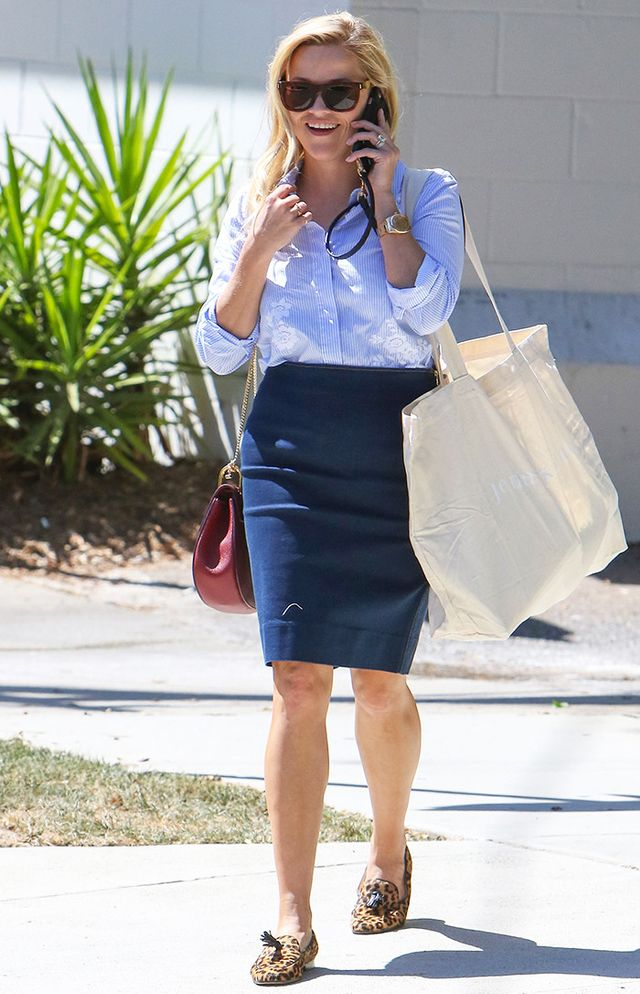 timeless pencil-skirt outfits: Reese Witherspoon