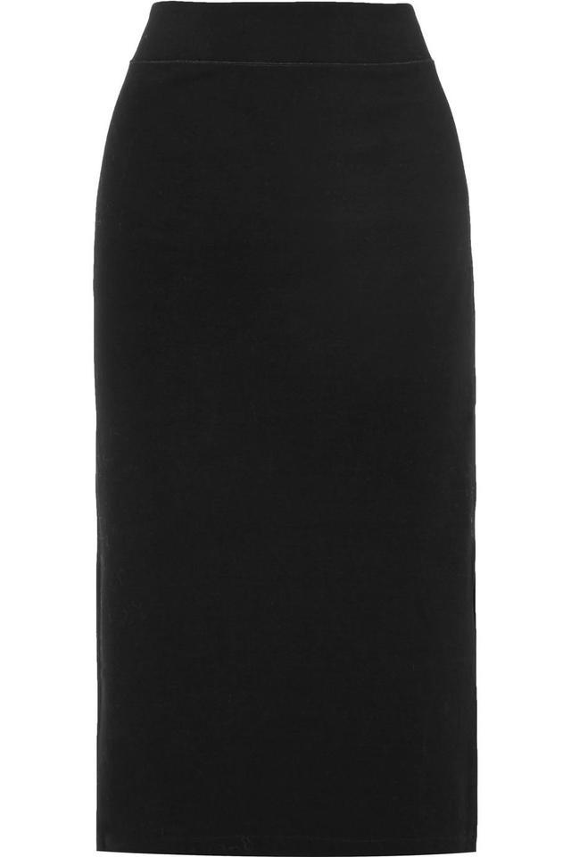 Stretch Cotton-blend Jersey Midi Skirt