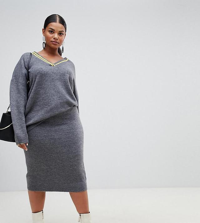 ASOS Curve Two-Piece Midi Skirt