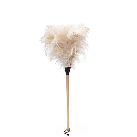 White Ostrich Feather Duster