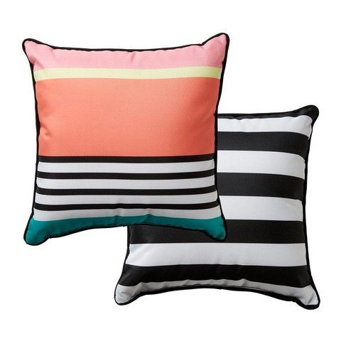 Reversible 38cm Outdoor Cushion - Stripe