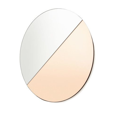 Kmart Two Tone Tinted Mirror - Rose Gold & Clear