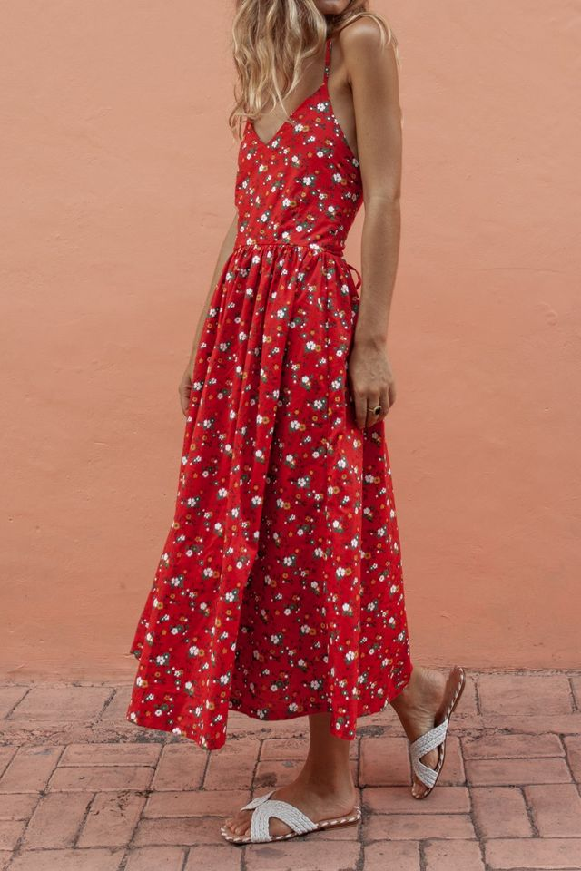 Posse Anouk Dress - Red Floral