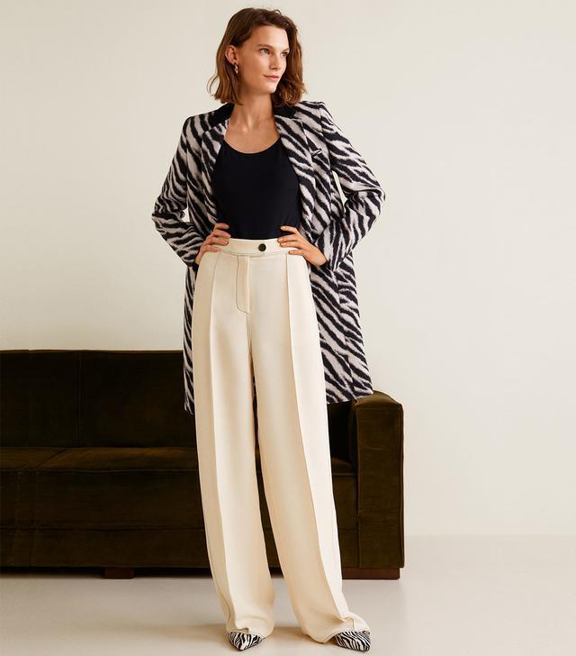 Mango Contrast Seam Trousers