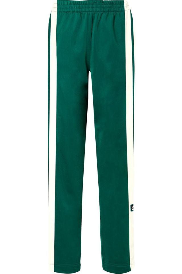 Adidas Originals Adibreak Striped Satin-Jersey Track Pants