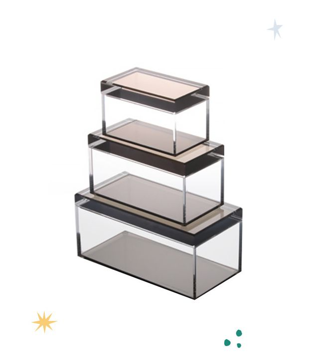 Alexandra von Furstenberg Jewelry Boxes in Acrylic and Bronze