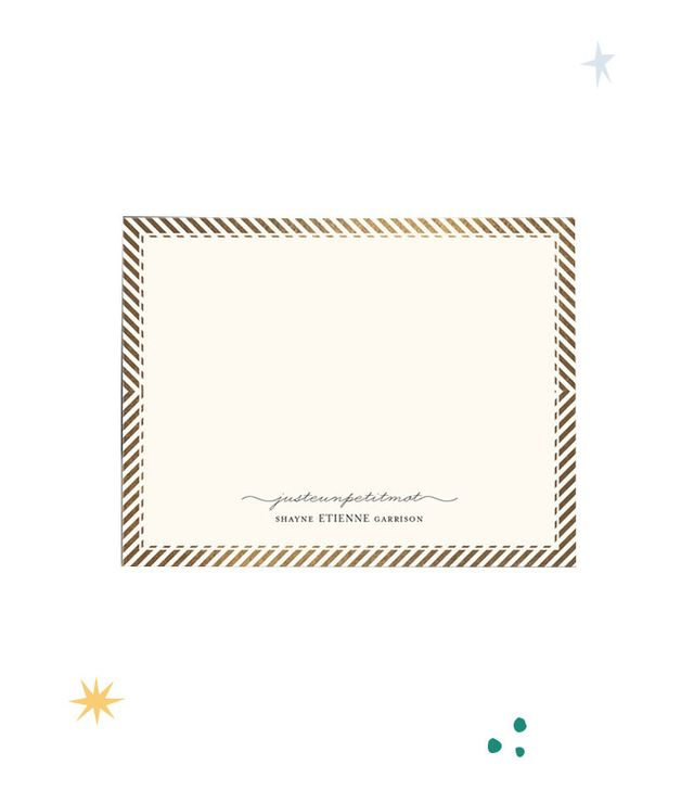 Minted Personalised Stationery Set